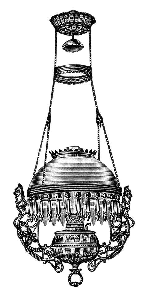 Hanging Lamps Vintage Clip Art - Old Design Shop Blog