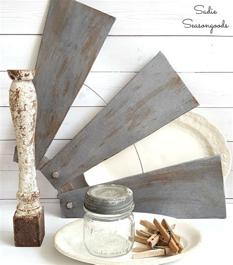 farmhouse style ceiling fans diy farmhouse style salvaged windmill decor from ceiling