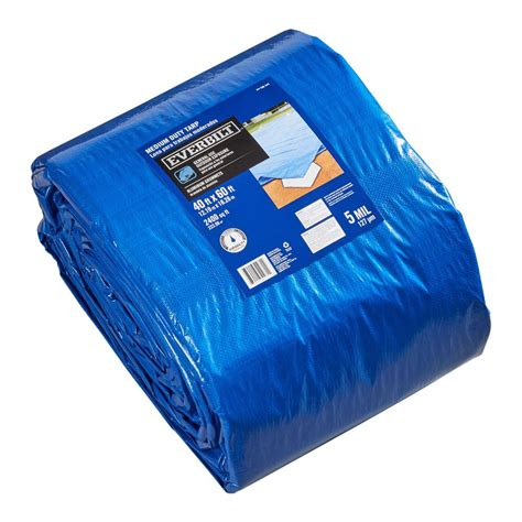 everbilt 40 ft x 60 ft blue medium duty general purpose