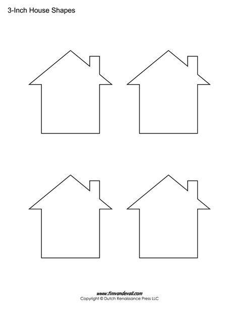 template of house house templates free blank house shape pdfs