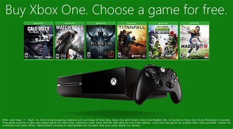 xbox one console offerte xbox one un jeu offert pour une console achet 233 e