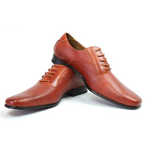 new mens ferro aldo brown herringbone dress shoes leather