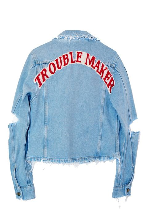 Termurah Trouble Maker Denim Jacket trouble maker denim jacket high heels