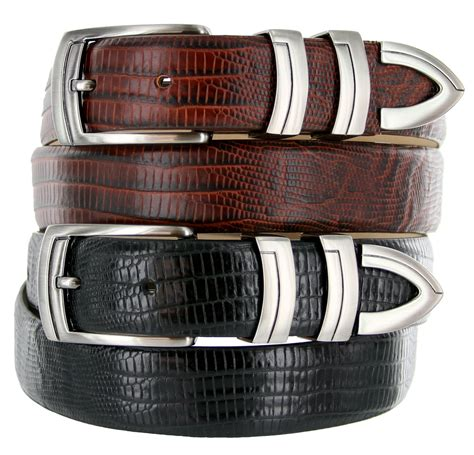 italian calfskin lizard embossed designer dress belt 1 1 8
