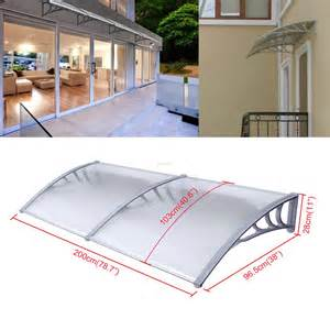 Diy Patio Awning Kits 1mx2m Diy Outdoor Polycarbonate Front Door Window Awning