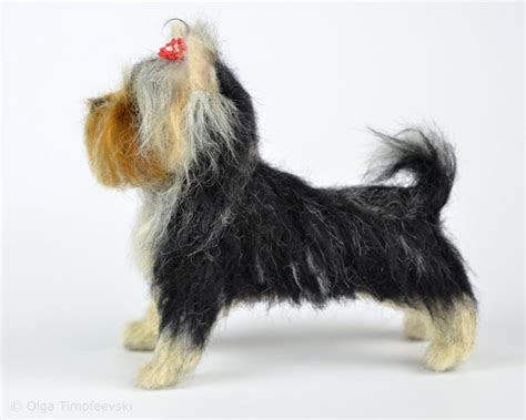 needle felted yorkie bonita the terrier puppy needle felted figurine