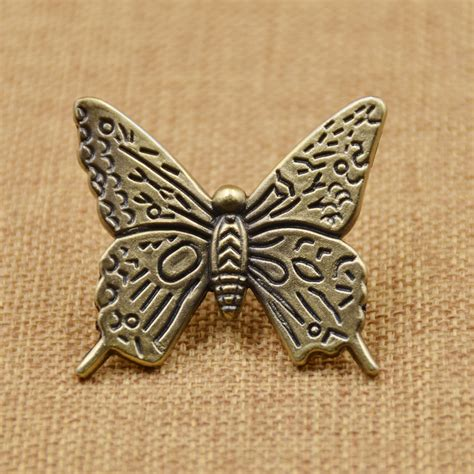 Butterfly Door Knobs by Antique Butterfly Drawer Handle Knob Kitchen Cabinet Cupboard Door Pull Bronze Ebay