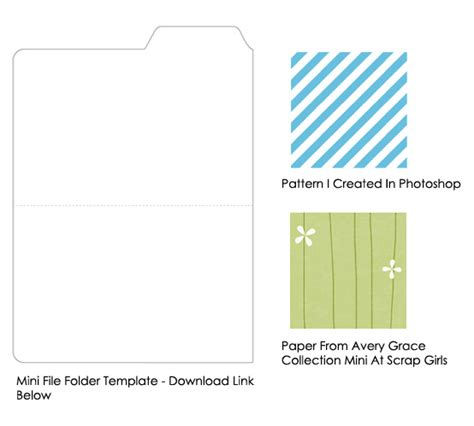 file folder template look cookbook diy graphic design recipes mini file