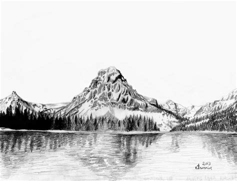 Drawing Mountains by Created To Create Two Medicine Mountain
