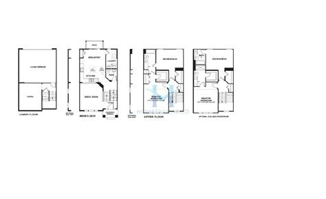 addison floor plan addison model in the briarcliffe townhomes subdivision in
