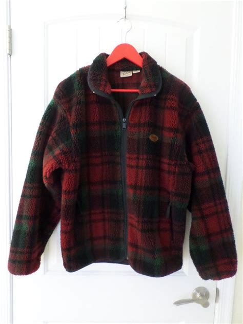 Woolrich Plaid Rugged Outdoor Thick Fleece Jacket Men S M Rugged Outdoor Jackets