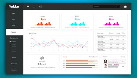free dashboard ui design psd css author