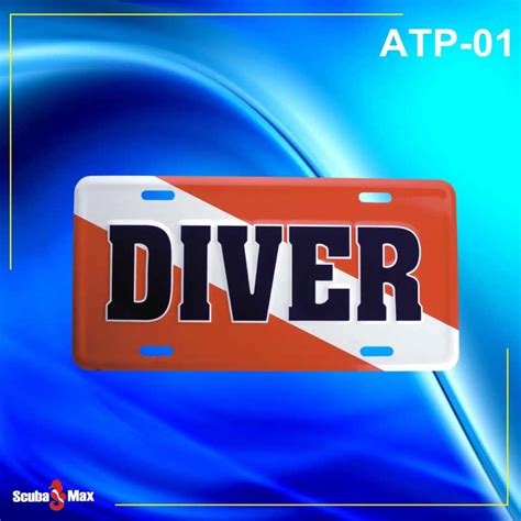 regulator boats license plate scuba max atp 01 dive flag license plate temento s dive