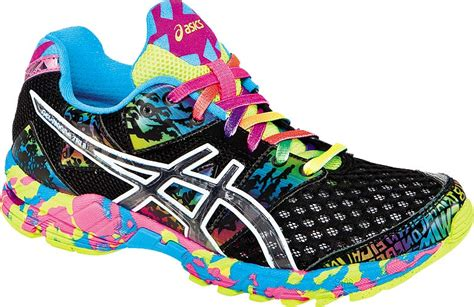 colorful athletic shoes asics gel noosa tri 8 s breathable light