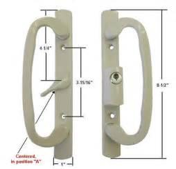Sliding Glass Patio Door Handle Set Sliding Glass Patio Door Handle Set Mortise Type A Position Keyed Beige Ebay