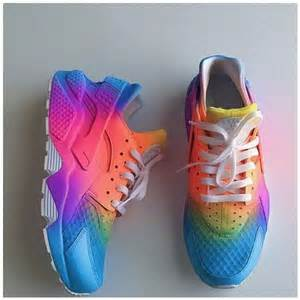 multi colored nike shoes 25 best ideas about neon nike shoes on