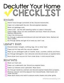 Declutter Your Home by Declutter Your Home Checklist Printable Dcdcapital Com
