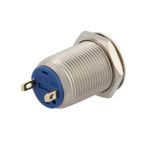 Saklar Push On Nikel 12 Mm 2a 3v 250v push button switch push button 12 mm nickel plated brass n3 ebay