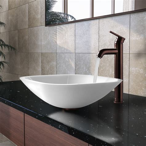 Marble Bowl Sinks Bathroom Vgt206 Square Shaped White Vessel Sink W