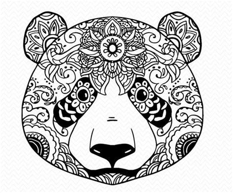 Jack Skellington Home Decor hand made panda svg silhouette or cricut file mandala panda