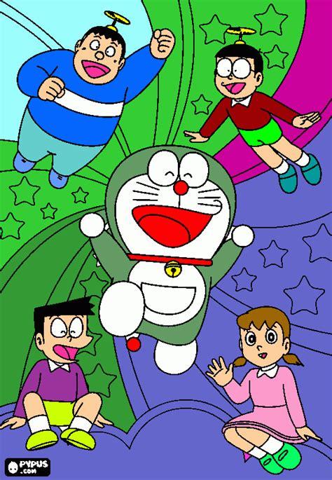 painting for doraemon look at nobita coloring page printable look at nobita