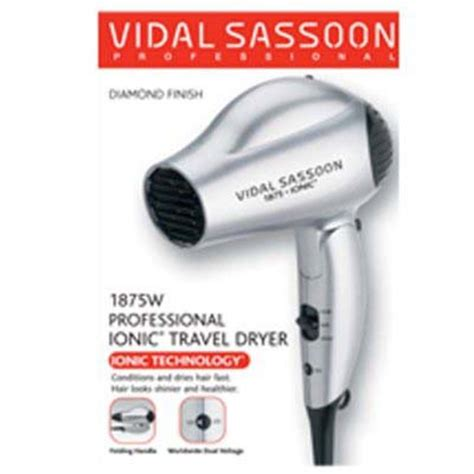Hair Dryer Vidal Sassoon 1875 Ionic vidal sassoon 1875w professional ionic travel hair dryer
