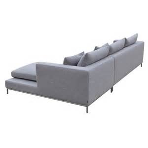 grey sectional sofas simena sectional sofa in grey tweed fabric buy sectional