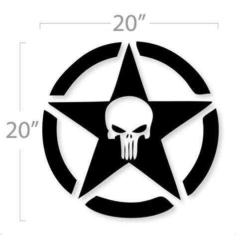 jeep logo drawing jeep punisher military star logo design decal sticker