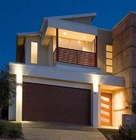 narrow block house designs    bed room narrow home plan