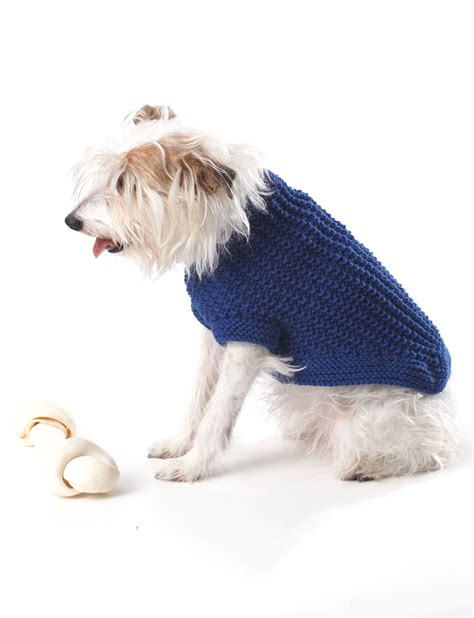 knitting pattern dog coat easy bernat knit dog coat knit pattern yarnspirations