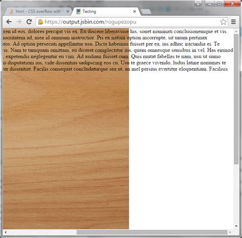 css style scrollbar in div html cover background with overflow scroll bar stack