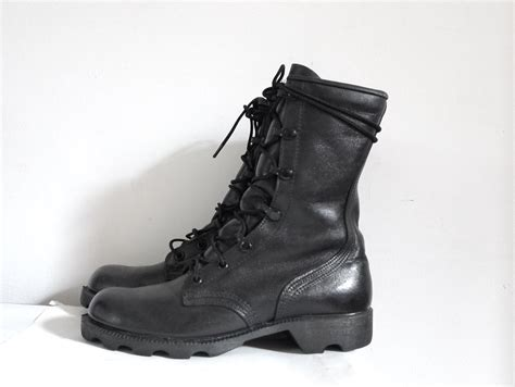 sale black combat boots 8 inch boots by