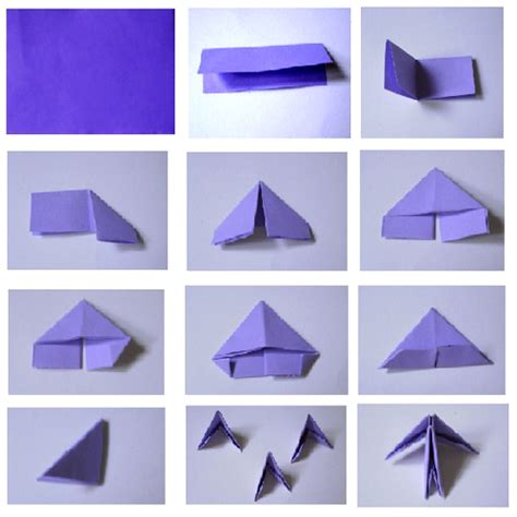 Origami Triangle Pieces - origami butterfly 3d aflowerinjapan