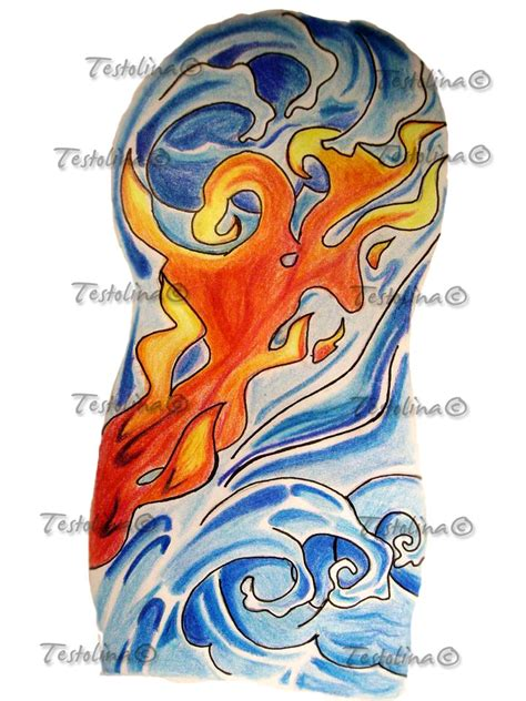fire and water tattoo koi pictures to pin on tattooskid