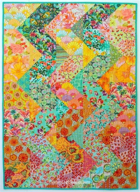 free patterns amy butler cascade quilt pattern by springleaf studios using amy