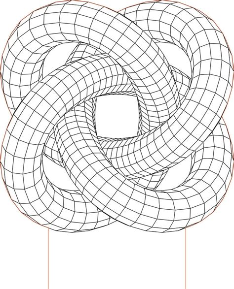 torus knot   illusion led lamp vector file lazernaya