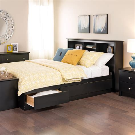 queen bed with storage drawers prepac sonoma black queen platform storage bed with 6