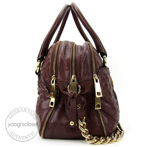 Marc Quilted Bowling Bag by Marc Brown Quilted Leather Bowler Bag Yoogi S Closet