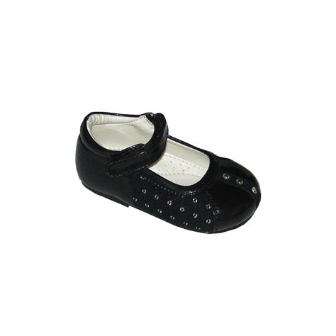 Black Babyheels shoes sequined beaded baby toddler shoes baby dress