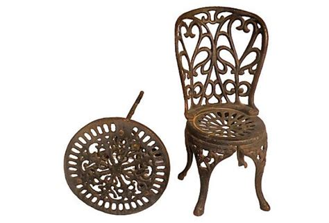 cast iron table and chairs miniature cast iron chair and table set omero home