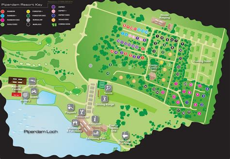 Birds Eye View Map Of House by Resort Map Displaying Facilities Locations
