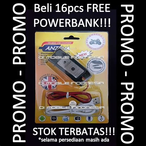 Usb Charger Motor Black jual charger motor usb anzena black di mobile indonesia