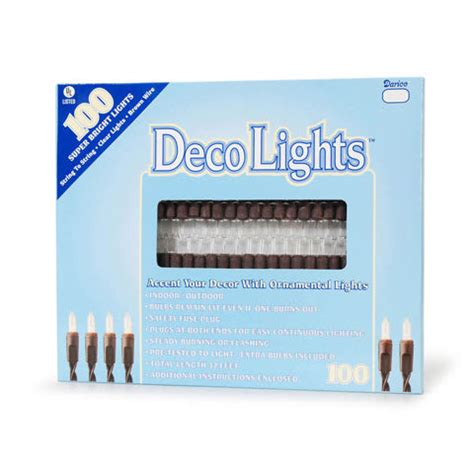 deco lights brown wire deco 100 light strand set brown wire clear bulb
