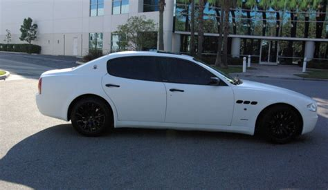 matte maserati quattroporte maserati quattroporte wrapped in matte white
