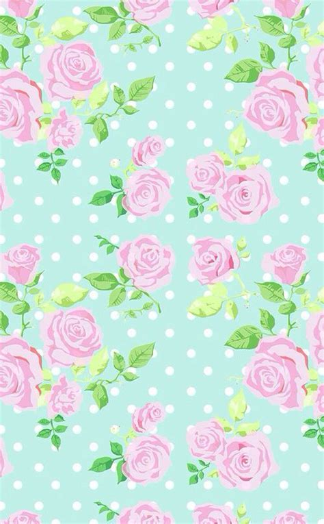 wallpaper green pink floral follow me iphone wallpapers and pink roses on pinterest