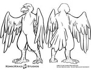 fursona template predator bird free character template by temperance on