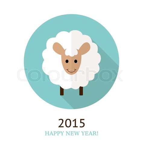 new year 2015 animal element vector illustration of sheep symbol of 2015 element for