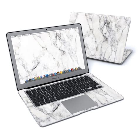 amac book air macbook air 13in skin white marble by marble collection