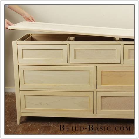 Diy Drawer by Build A Diy 7 Drawer Dresser Build Basic