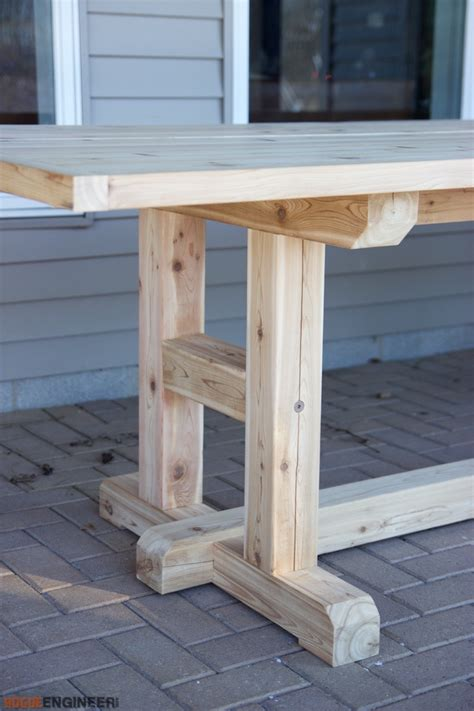 diy dining table bench plans h leg dining table 187 rogue engineer